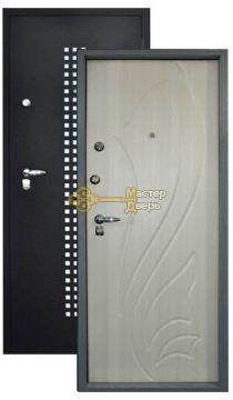 Бизон Квадро 06, 2 замка, 1,5 мм сталь ( чёрный крокодил+белёный дуб )