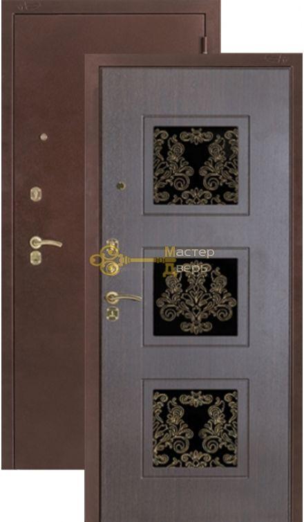Дверь Argus 29, 2 замка, 2 мм сталь, (медь антик+венге)