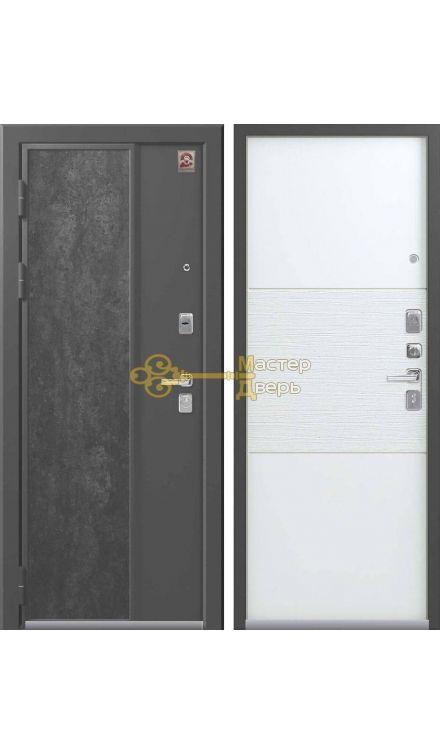 Центурион LUX-7, 2 замка, 2 мм металл, (серый камень+софт белый)