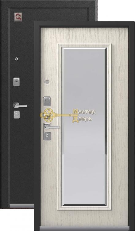 Входная дверь Центурион LUX-1, 2 замка, 2 мм металл, (серебро антик+патина крем)