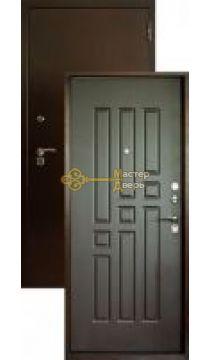 Дверь входная Аргус 6, 2 замка, 1,5 мм металл, (медь антик+венге)