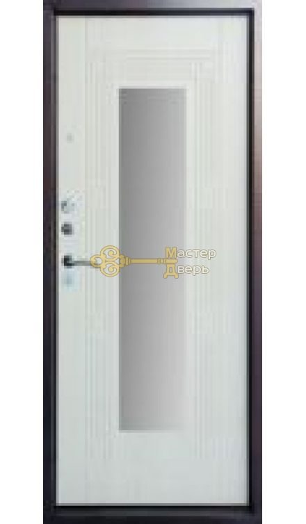 Форт Б-14 зеркало 2 замка, 1,5мм сталь, (серебро+белёныйдуб)