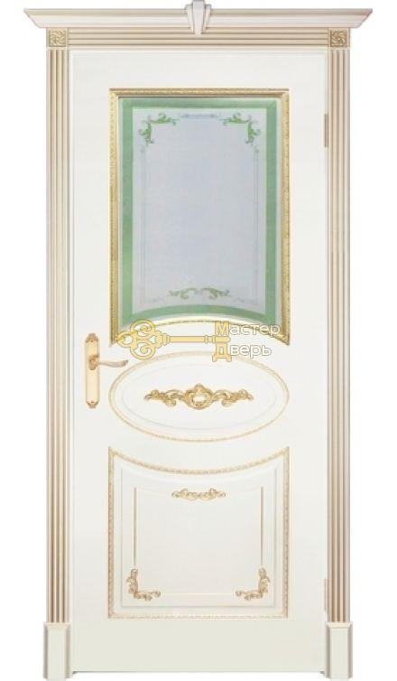 Престижио Джорджо, стекло вариант №3, цвет слоновая кость/патина золото,  остекленная