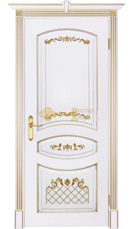 Престижио Кариньяно-2, цвет белый/патина золото, глухая