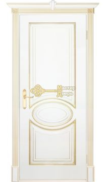 Престижио Лувр-4, цвет белый/патина золото, глухая