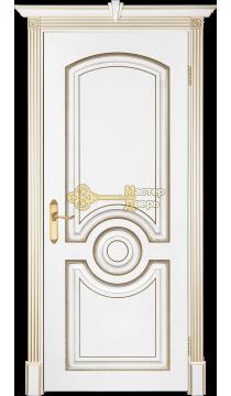 Престижио Лувр-5, цвет белый/патина золото, глухая