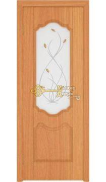 Дверь пвх, Орхидея, миланский орех, стекло матовое, Ростра