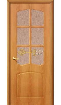Дверь межкомнатная Дера Азалия. Миланский орех, остекленная