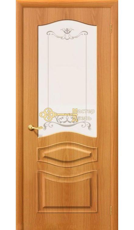 Дверь  межкомнатная Дера Леона. Миланский орех, остекленная