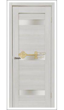 Дверь межкомнатная Экошпон Дера Мастер 632. Стекло белое, цвет сандал белый.