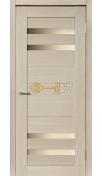 Дверь межкомнатная Экошпон Дера Мастер 636. Стекло белое, цвет беленый дуб.