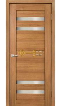 Дверь межкомнатная Экошпон Дера Мастер 636. Стекло белое, цвет карамель.