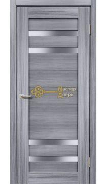Дверь межкомнатная Экошпон Дера Мастер 636. Стекло белое, цвет сандал серый.