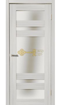 Дверь межкомнатная Экошпон Дера Мастер 639. Стекло белое, цвет сандал белый.