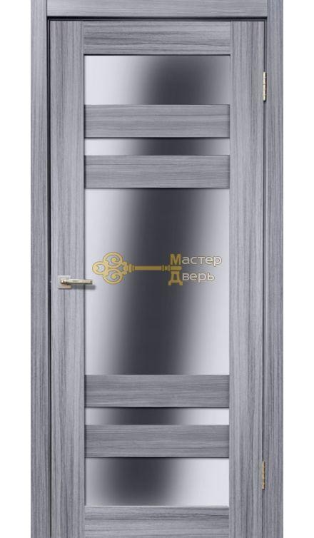 Дверь межкомнатная Экошпон Дера Мастер 639. Стекло белое, цвет сандал серый.