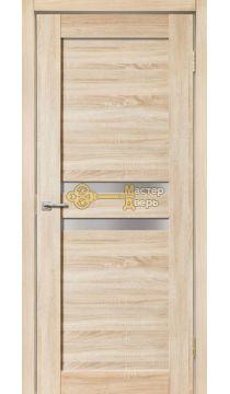 Дверь межкомнатная Экошпон Дера Мастер 642.Стекло белое, цвет беленый дуб.