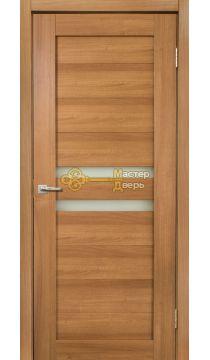 Дверь межкомнатная Экошпон Дера Мастер 642. Стекло белое, цвет карамель.