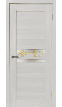 Дверь межкомнатная Экошпон Дера Мастер 642. Стекло белое, цвет сандал белый.