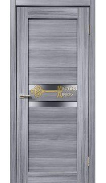 Дверь межкомнатная Экошпон Дера Мастер 642. Стекло белое, цвет сандал серый.