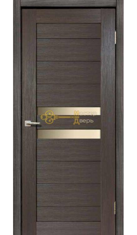 Дверь межкомнатная Экошпон Дера Мастер 642. Стекло белое, цвет венге.