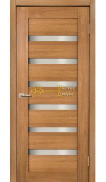 Дверь межкомнатная Экошпон Дера Мастер 643. Стекло белое, цвет карамель.