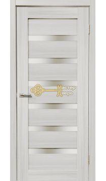 Дверь межкомнатная Экошпон Дера Мастер 643. Стекло белое, цвет сандал белый.