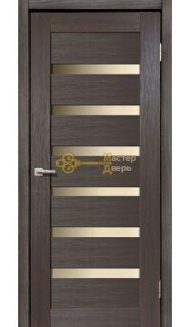 Дверь межкомнатная Экошпон Дера Мастер 643. Стекло белое, цвет венге.