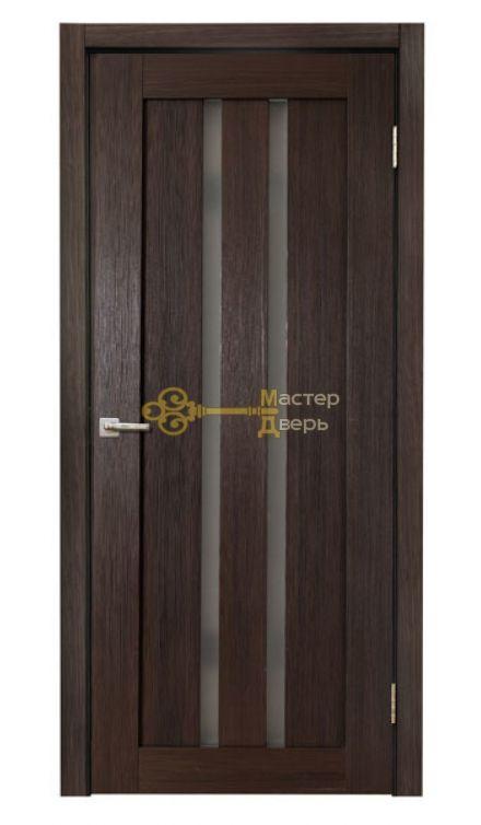 Дверь межкомнатная Экошпон Дера Мастер 685. Стекло белое, цвет венге.
