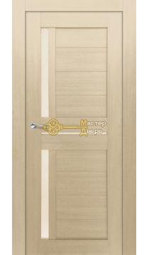 Дверь межкомнатная Экошпон Дера Мастер 688. Беленый дуб, остекленная.