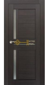 Дверь межкомнатная Экошпон Дера Мастер 688. Венге, остекленная.