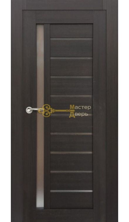 Дверь межкомнатная Экошпон Дера Мастер 691Б. Венге, остекленная.