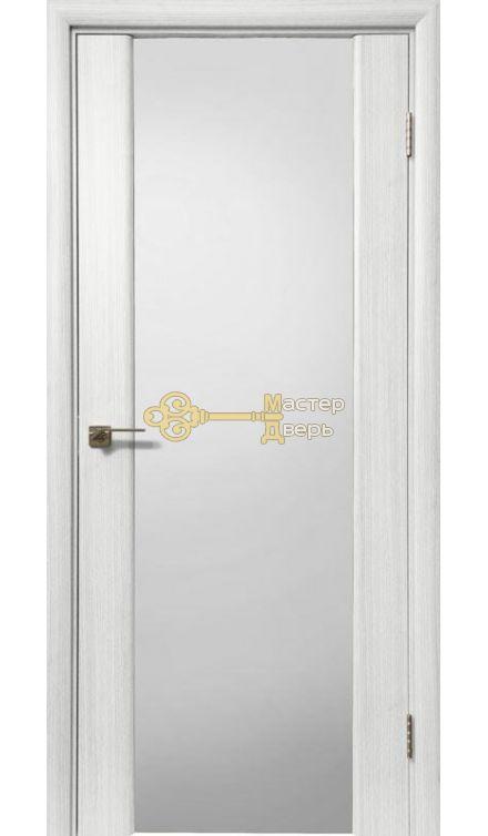 Дверь межкомнатная Экошпон Дера Оскар 981. Стекло триплекс белый, цвет сандал белый.