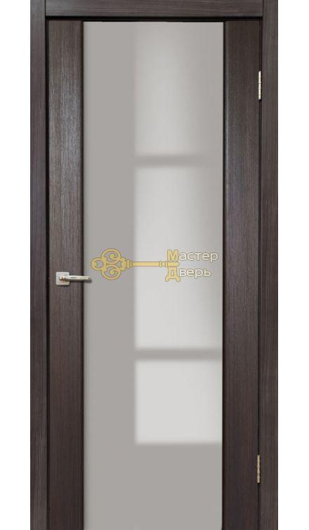 Дверь межкомнатная Экошпон Дера Оскар 981. Стекло триплекс белый, цвет венге.