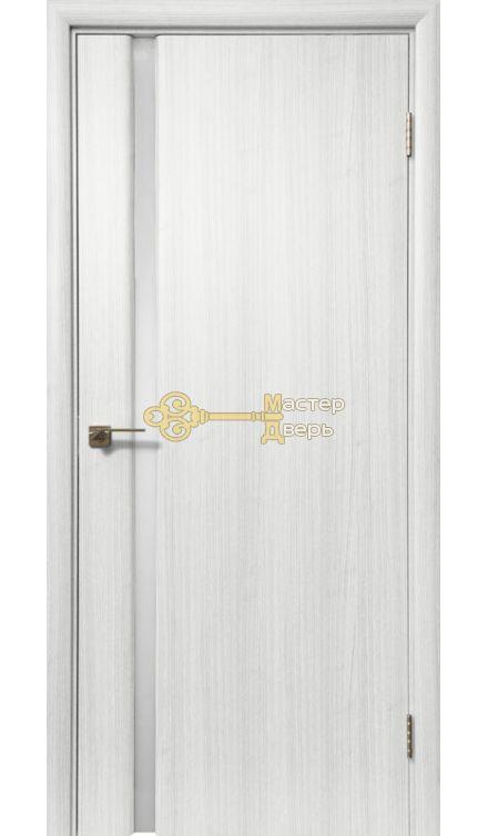 Дверь межкомнатная Экошпон Дера Оскар 983. Стекло триплекс белый, цвет сандал белый.