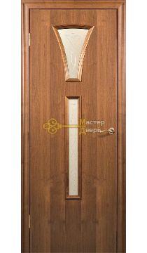 Дверь Краснодеревщик CPL ДО 204, цвет тёмный орех.
