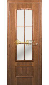 Дверь Краснодеревщик CPL ДО 208, цвет тёмный орех.