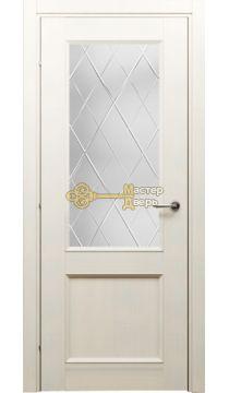 Дверь Краснодеревщик CPL ДО 3324, цвет белёный дуб.