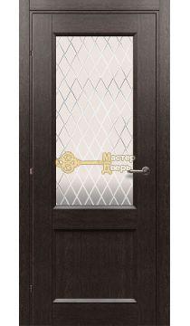 Дверь Краснодеревщик CPL ДО 3324, цвет чёрный дуб.