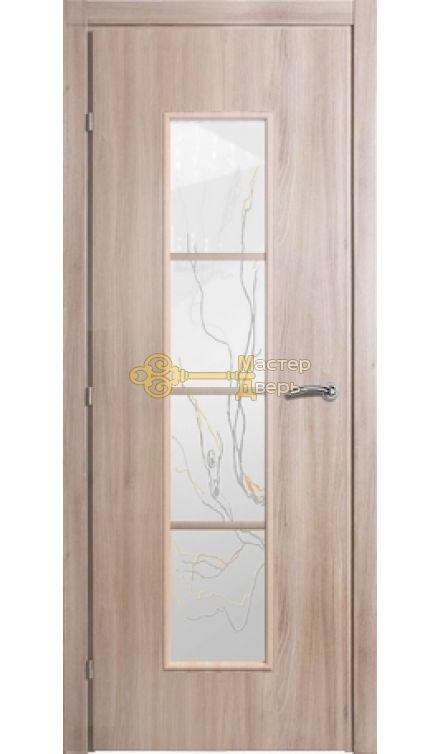 Дверь Краснодеревщик CPL ДО 5066,с\о Лиана, цвет меди акация.