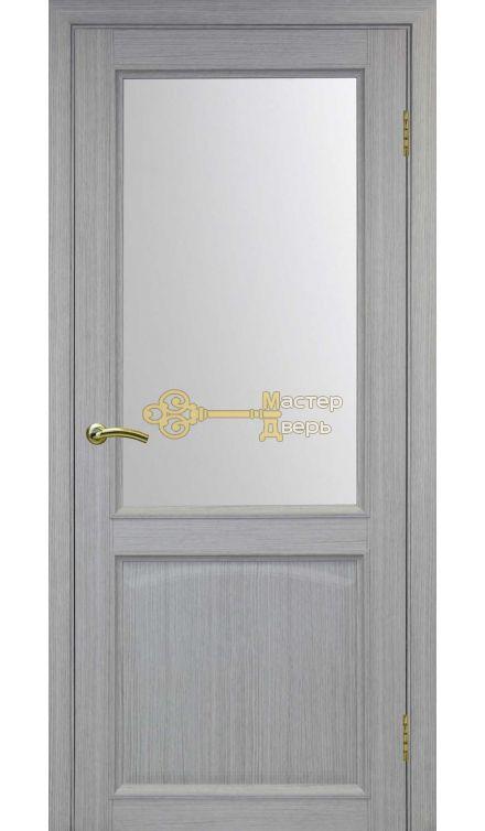 Экошпон, Optima Porte, Тоскана 602.21, серый дуб, стекло Мателюкс.