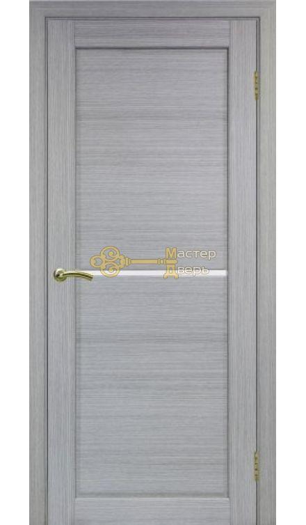 Экошпон, Optima Porte, Сицилия 712, дуб серый, стекло Мателюкс, Лакобель.