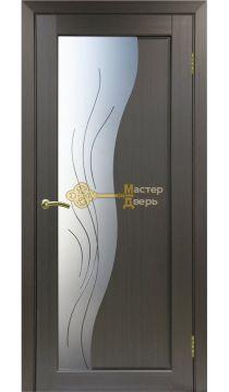 Экошпон Optima Porte, Сицилия 720.21, венге, стекло Мателюкс, линии.