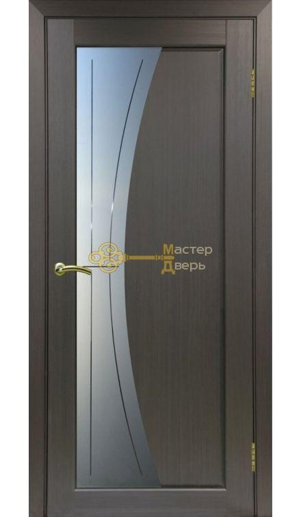 Экошпон, Optima Porte, Сицилия 721.21, венге, стекло Мателюкс, линии.