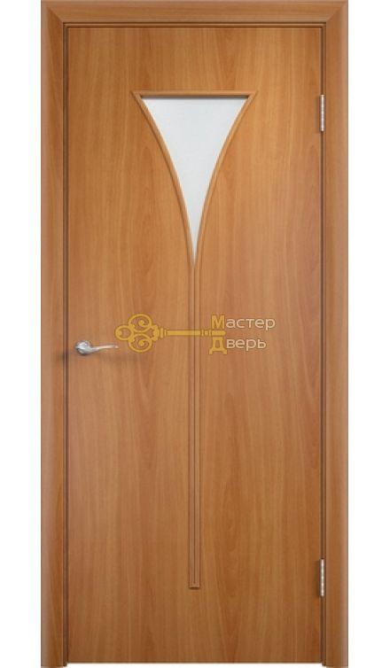 Дверь ламинированная Рюмка С-4, миланский орех.