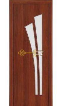 Дверь ламинированная Лагуна С-7, итальянский орех.