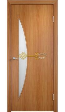 Дверь ламинированная Луна С-6, миланский орех.