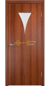 Дверь ламинированная Рюмка С-4, итальянский орех.
