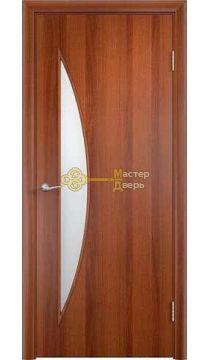 Дверь ламинированная Луна С-6, итальянский орех.