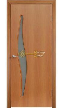 Дверь ламинированная Волна С-10, миланский орех.