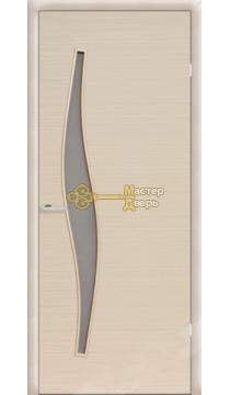 Дверь ламинированная Волна С-10, белёный дуб.